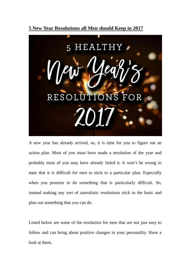 new year resolutions a time for