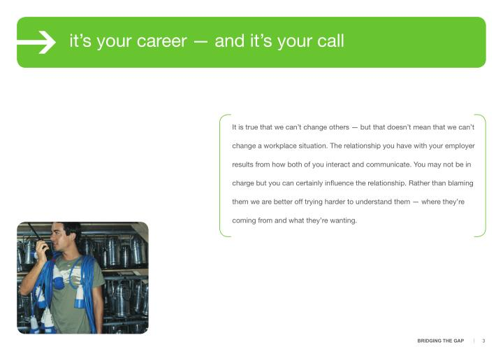 It's your career — and it's your call