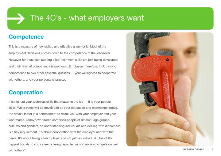 The 4C's - what employers want