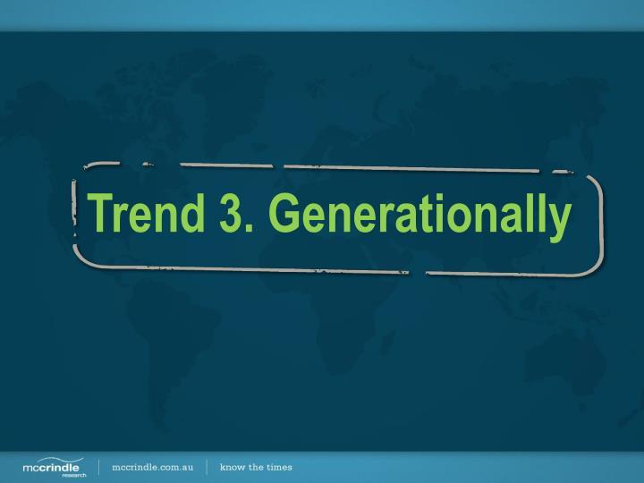 Trend 3. Generationally