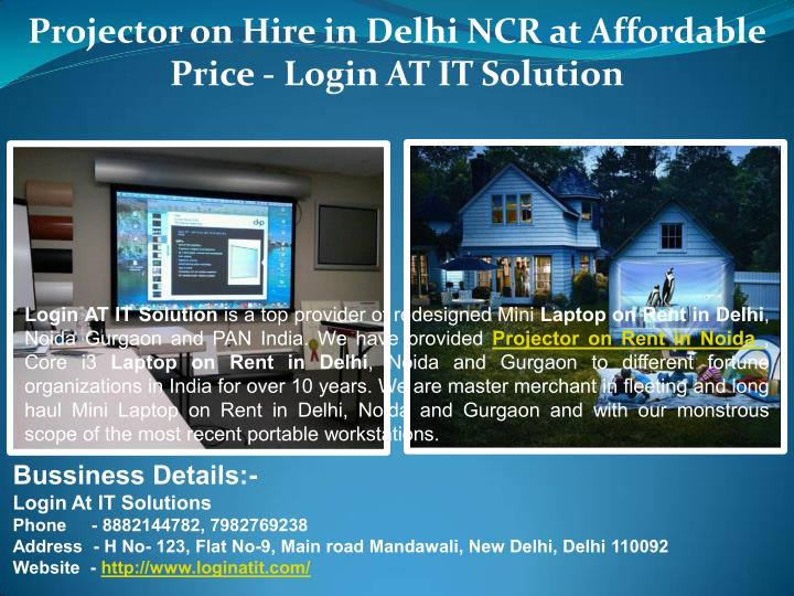 Projector on Hire in Delhi NCR at Affordable