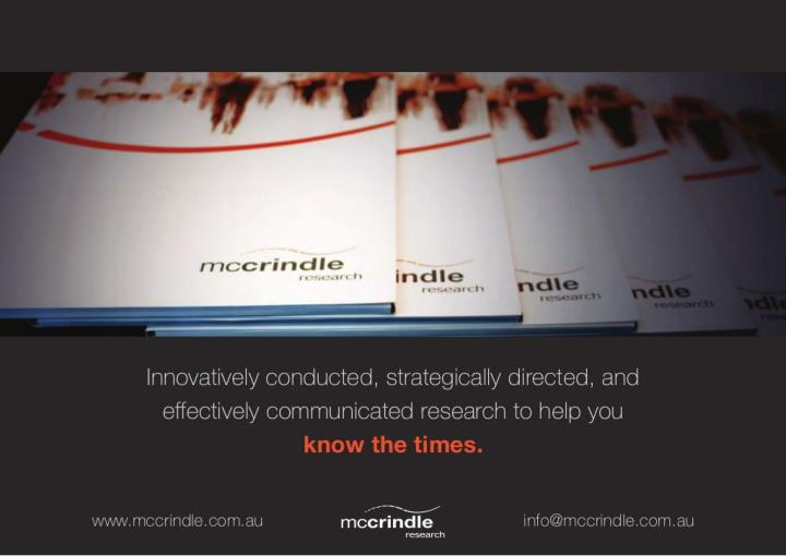 McCrindle Research: Research Services - Know the Times