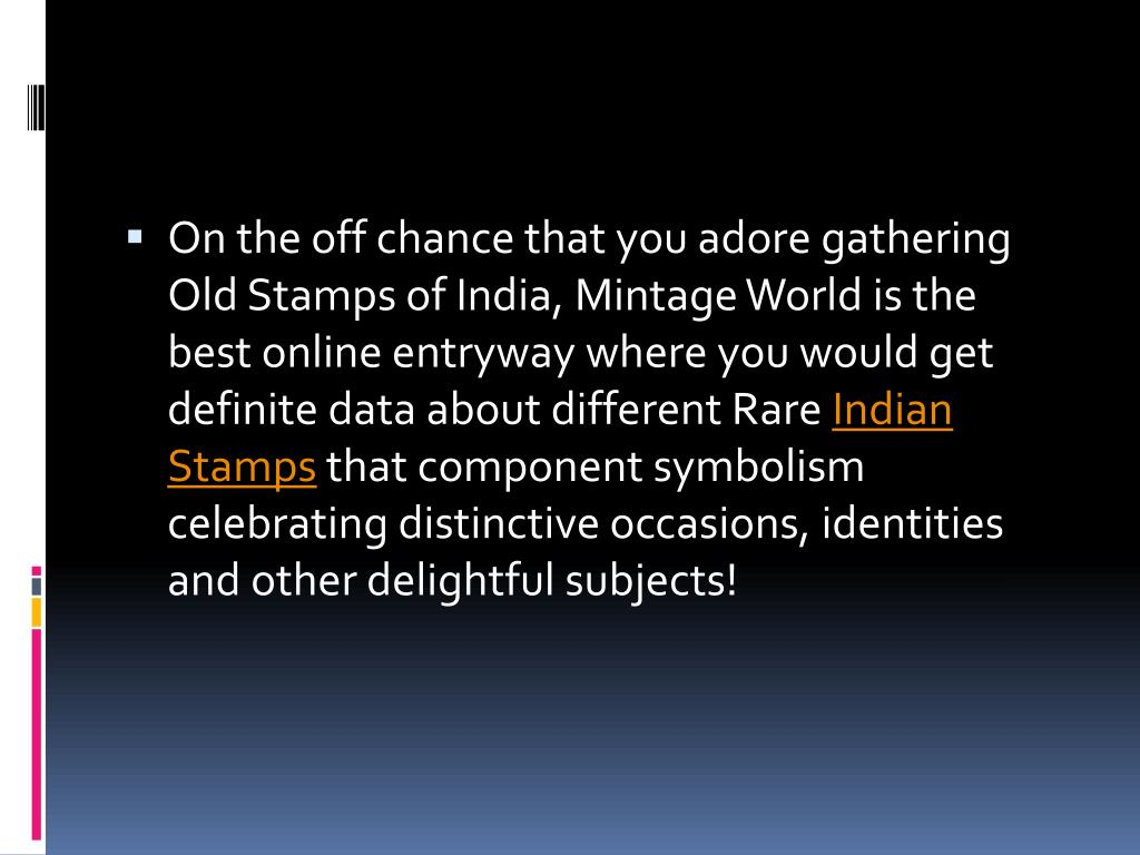 PPT - Indian Stamps Collecting PowerPoint Presentation, free