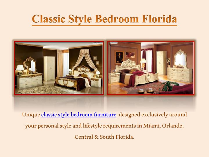 classic style bedroom florida n.
