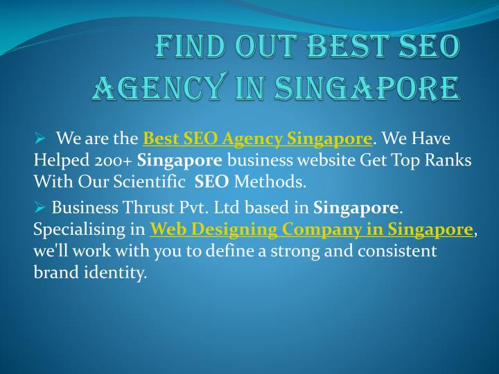 find out best seo agency in singapore n.