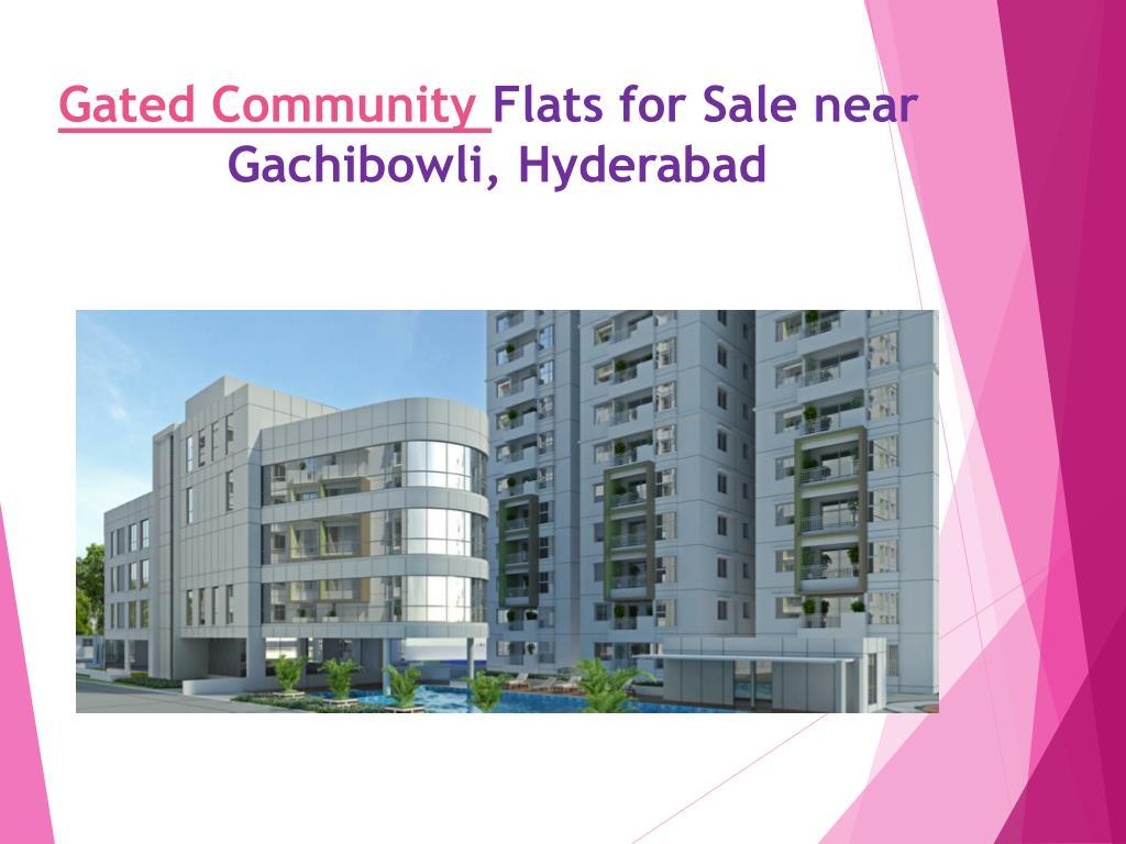 Ppt Gated Community Flats For Sale Near Gachibowli