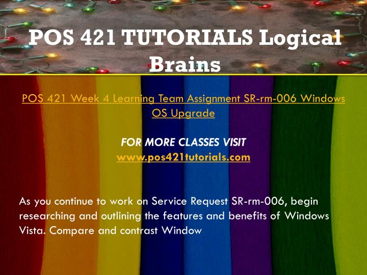 pos 421 week 4 For more classes visit wwwpos421tutorialscom there are two types of hard drive configurations in windows: basic disks and dynamic disks do a web search to find.