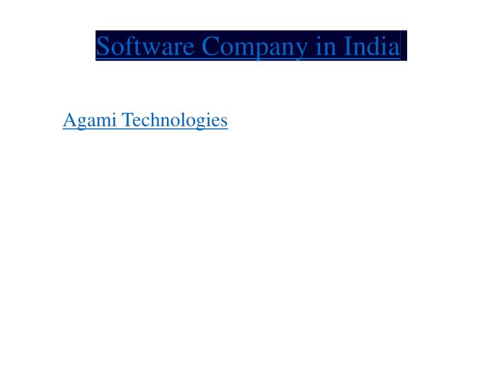 software company in india n.