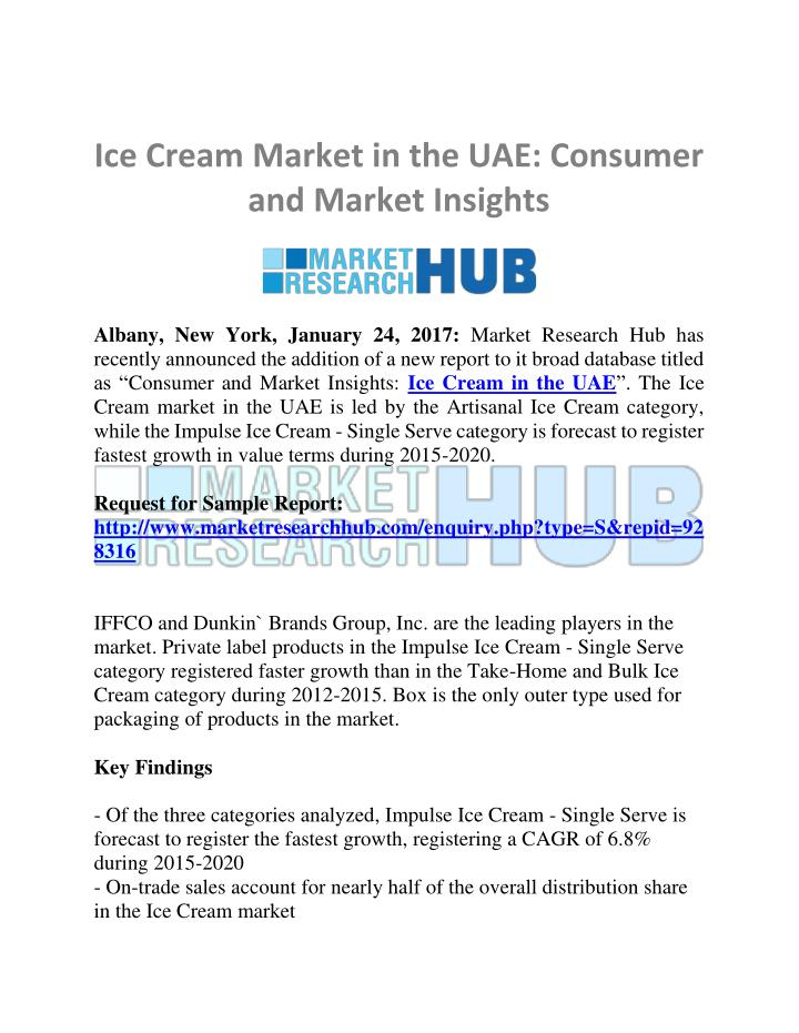 a market analysis of the ice cream industry View essay - industry analysis on ice cream industry from mba 124 at asia pacific institute of management i dustry a alysis report with refere ce to ice cream i dustry submitted by: e pramod.