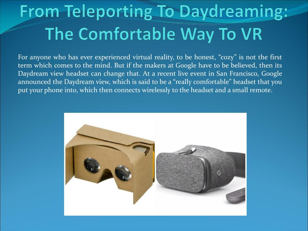 PPT - From Teleporting To Daydreaming: The Comfortable Way ...