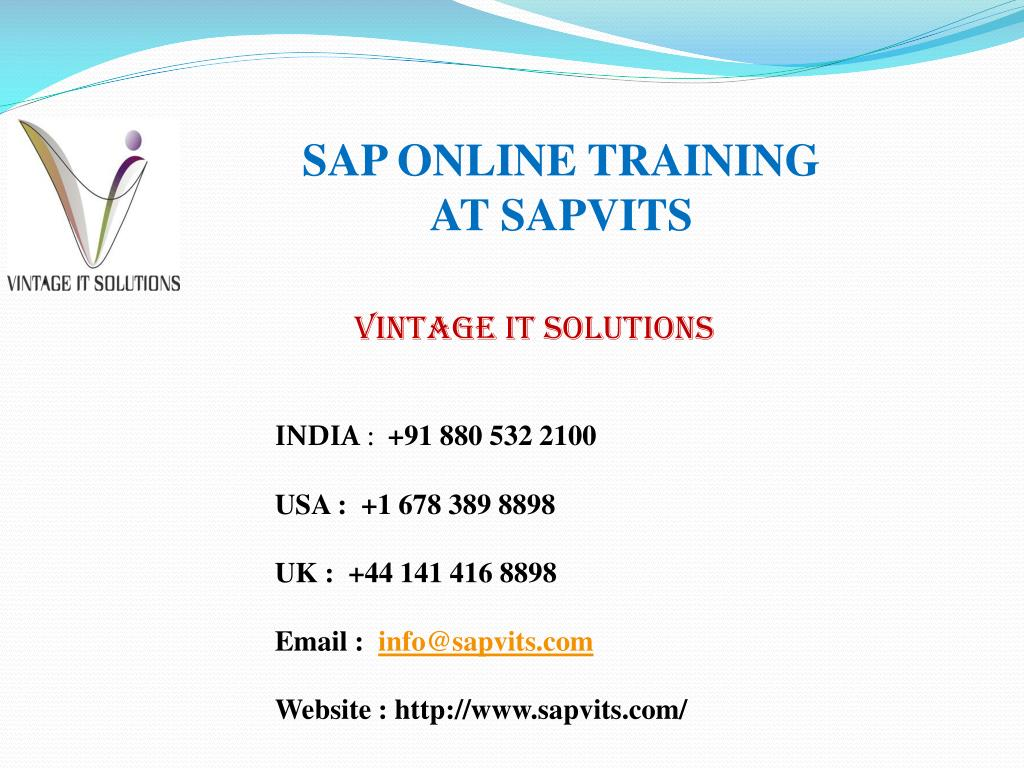 PPT - SAP Online Training, SAP Online Courses with Certification