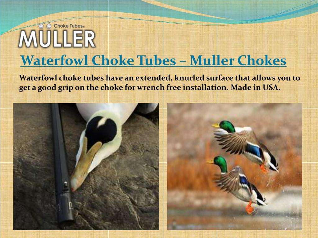 PPT - Best Shooting Choke Tubes - Muller Chokes PowerPoint