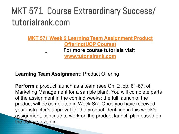 mkt 571 product launch plan