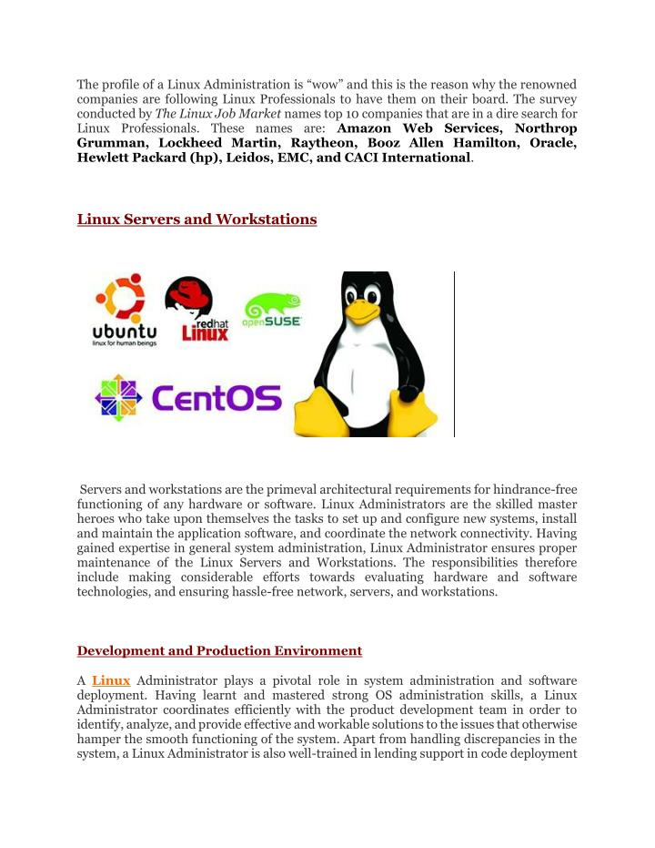PPT - Roles and responsibilities of a linux administrator
