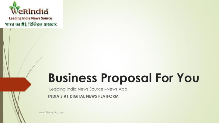business proposal for you n.