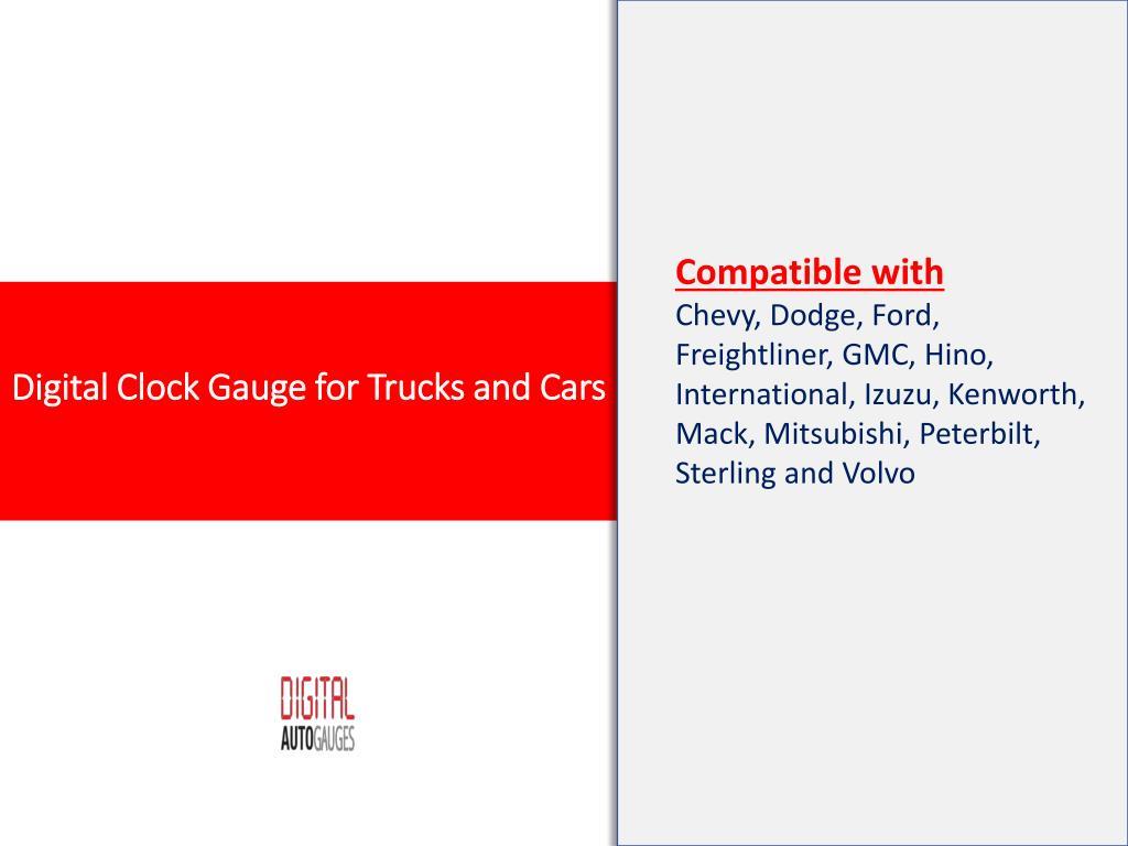 PPT - Digital Clock Gauge for Trucks and Cars | digital clock for