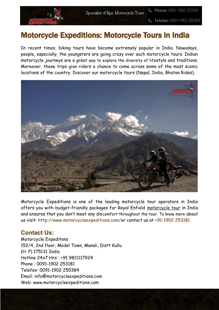 motorcycle expeditions motorcycle tours in india n.