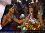 pia wurtzbach holds the crown as she surges