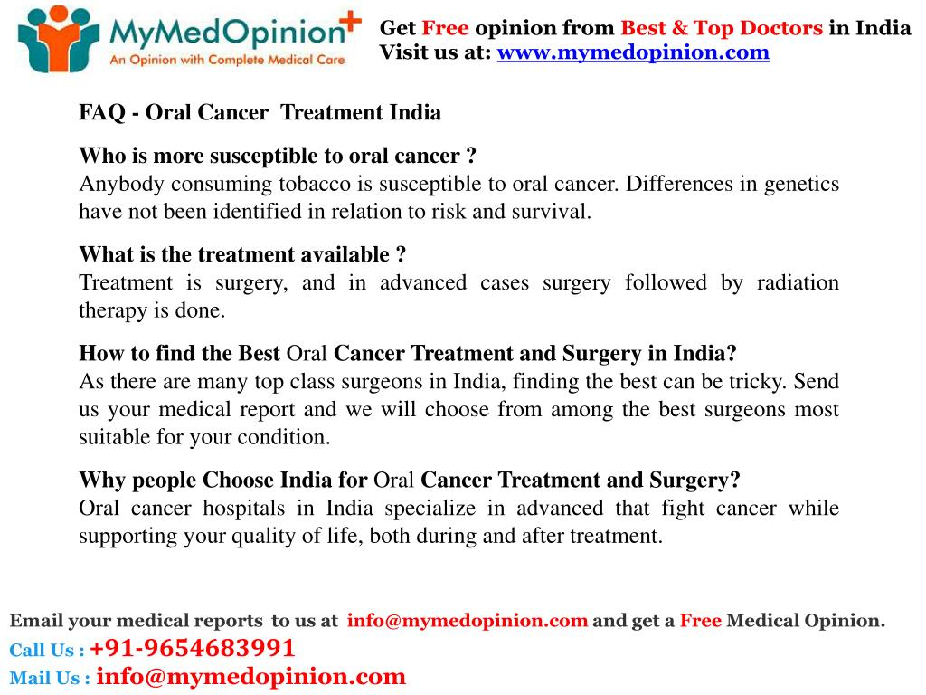PPT - Oral Cancer Treatment In India PowerPoint Presentation