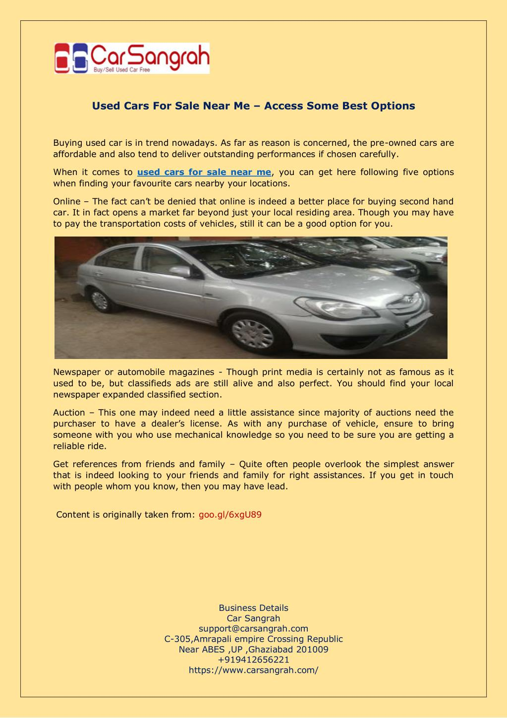 Used Car Auctions Near Me >> Ppt Used Cars For Sale Near Me Access Some Best Options