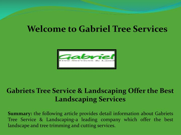 welcome to gabriel tree services n.