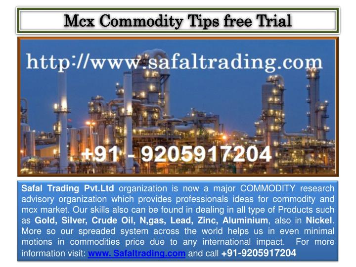 mcx commodity tips free trial n.