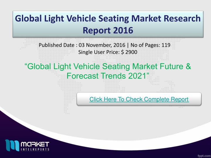 global light vehicle seating market research n.