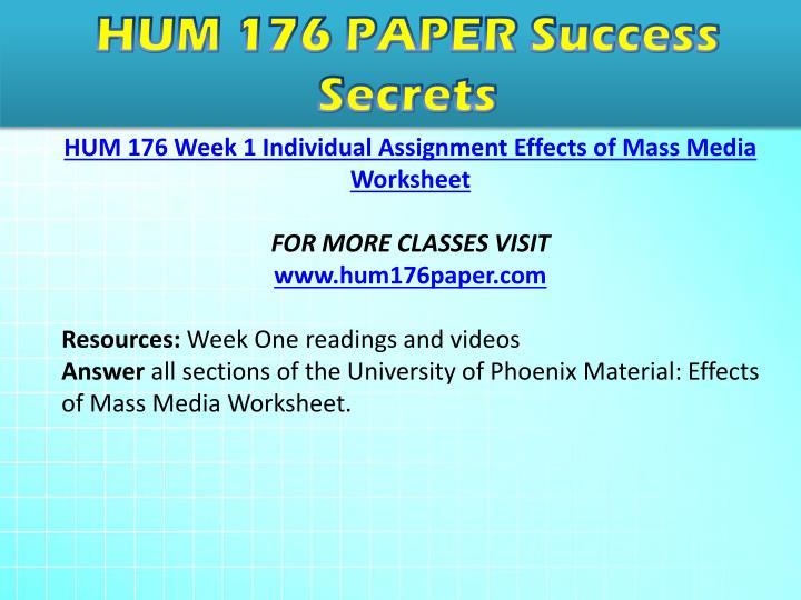 effects of mass media hum 186