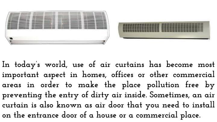 air curtain purpose