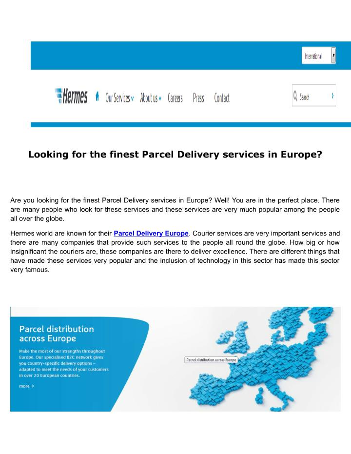 PPT - High end and high quality European fulfillment