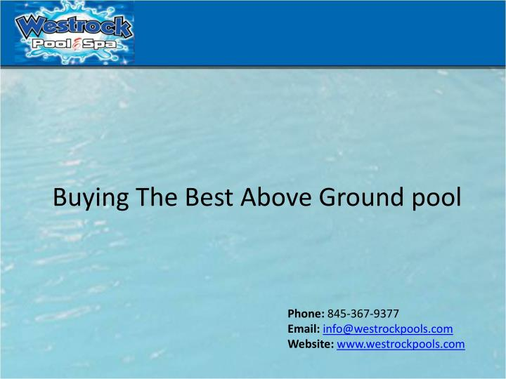 buying the best above ground pool n.