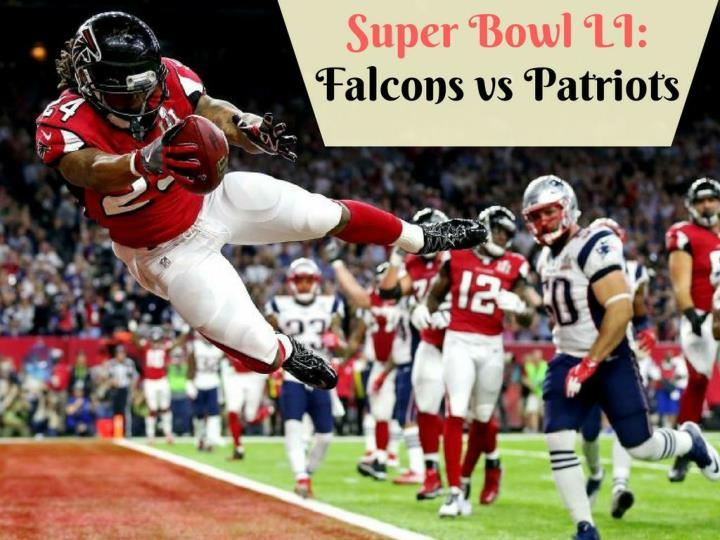 super bowl li falcons versus patriots n.