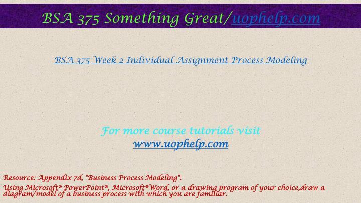 week 3 assignment bsa 375