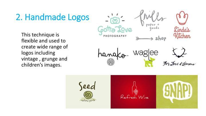 2. Handmade Logos