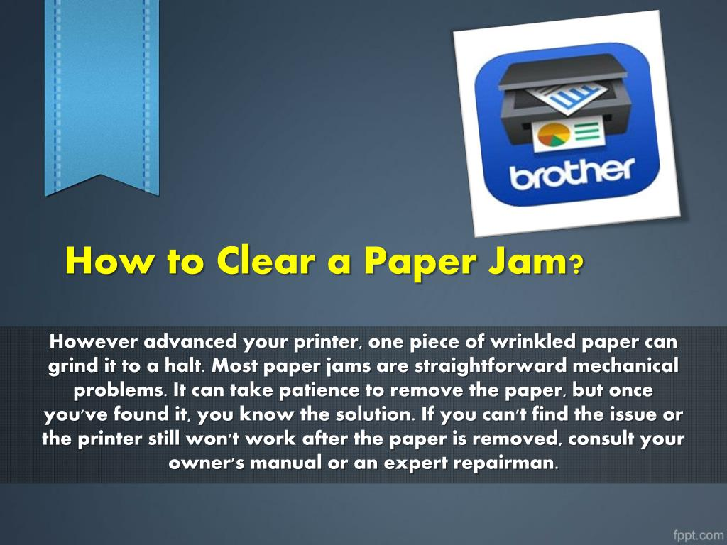 PPT - How to Clear a Paper Jam? PowerPoint Presentation - ID