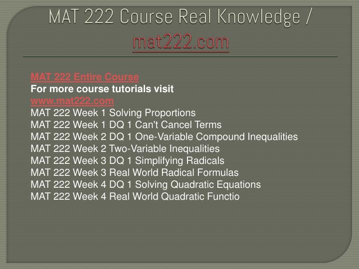 real world quadratic functions mat 222