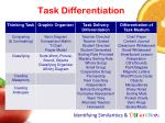 task differentiation