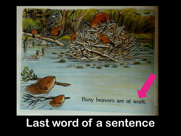Last word of a sentence