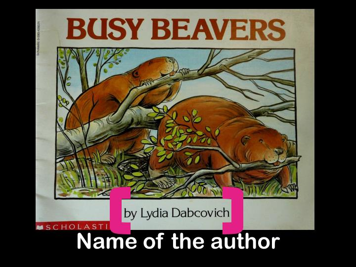 Name of the author