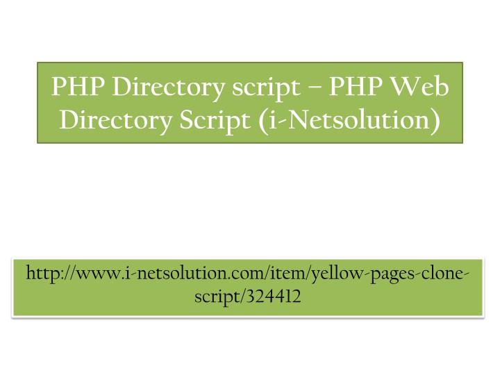 php directory script php web directory script i netsolution n.