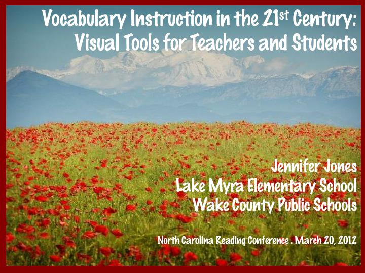 vocabulary instruction in the 21 st century n.