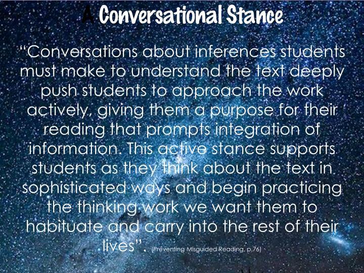 A Conversational Stance