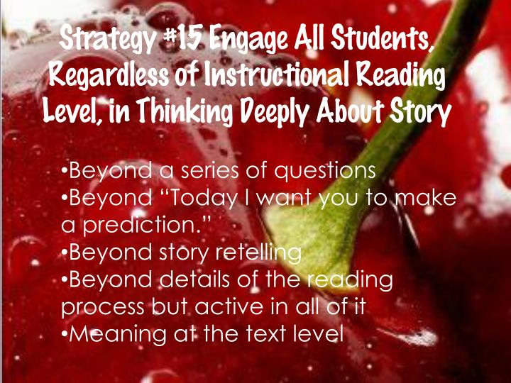 Strategy #15 Engage All Students,