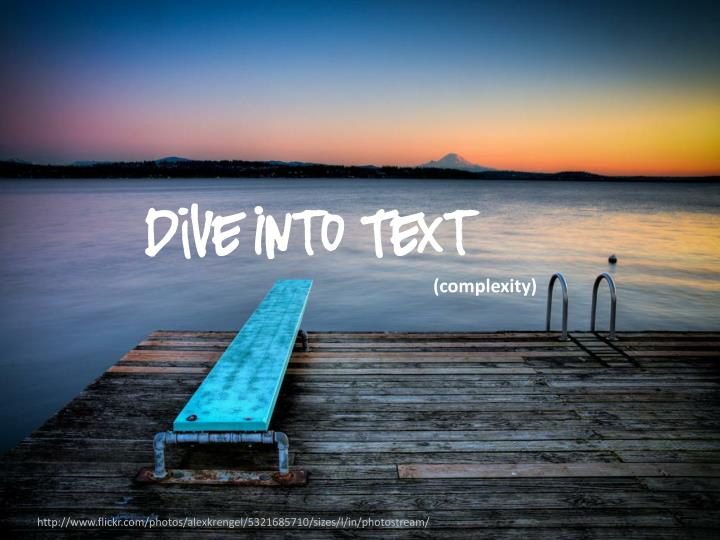 Dive Into Text