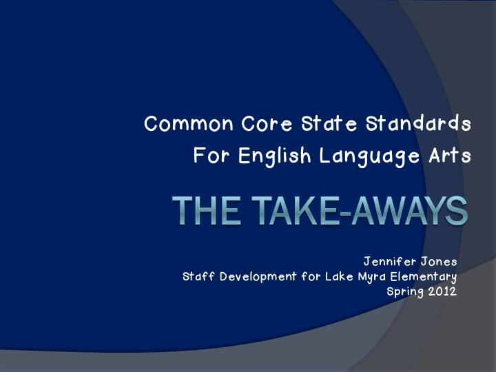 common core state standards for english language n.