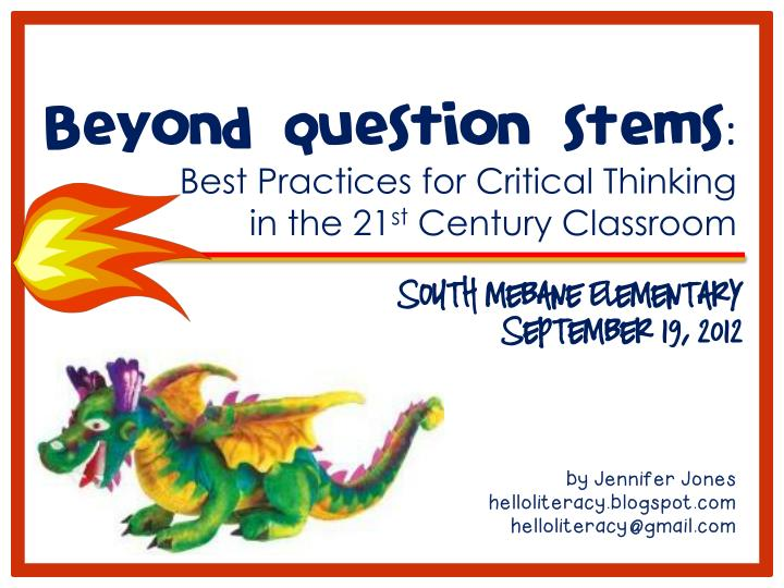 beyond question stems best practices for critical n.