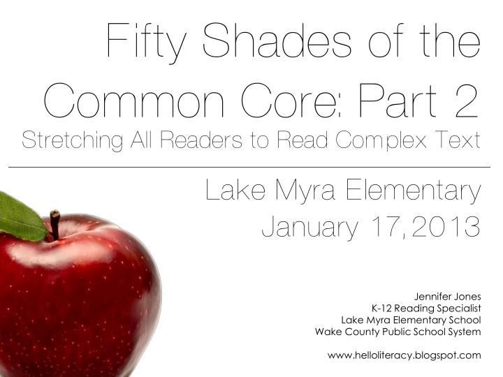 Fifty shades of the common core part 2 stretching