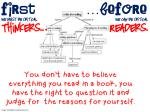 before we can be critical readers