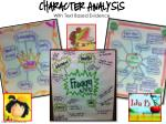 character analysis with text based evidence