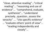 close attentive reading critical reading